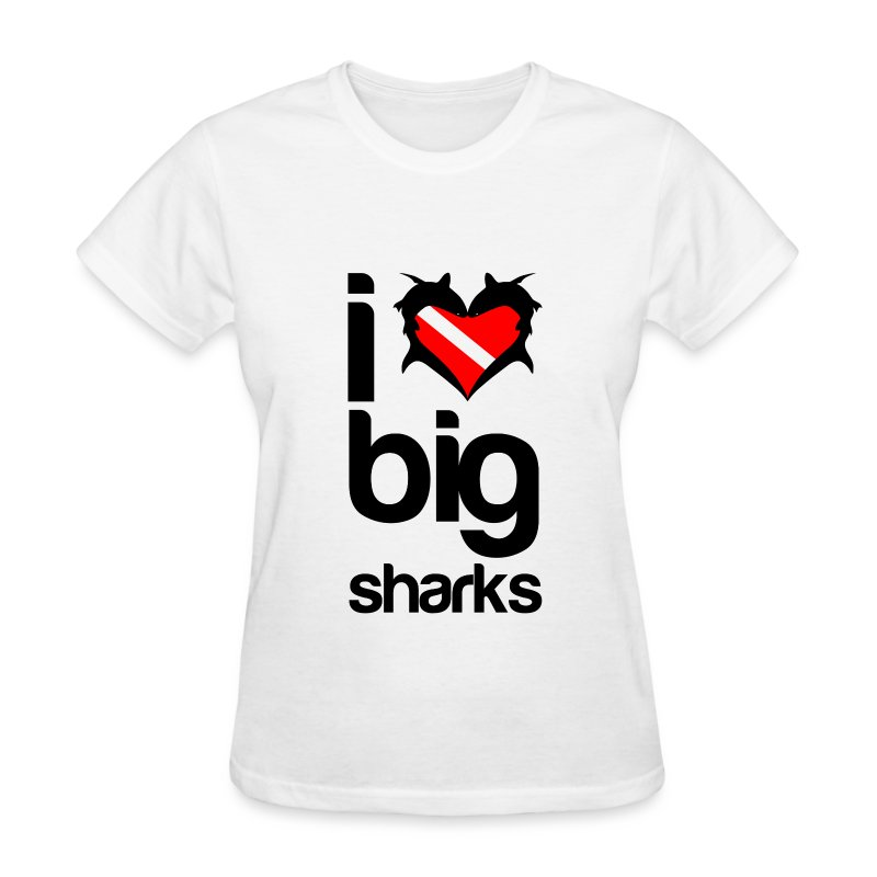 I Love Big Sharks T-Shirt - Women's T-Shirt