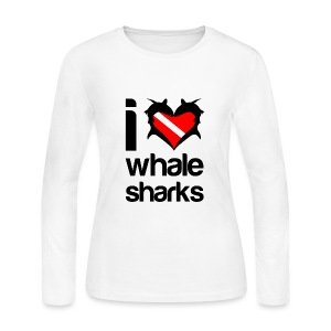 I Love Whale Sharks T-Shirt - Women's Long Sleeve Jersey T-Shirt