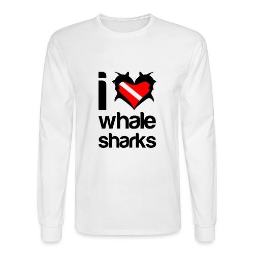 I Love Whale Sharks T-Shirt - Men's Long Sleeve T-Shirt