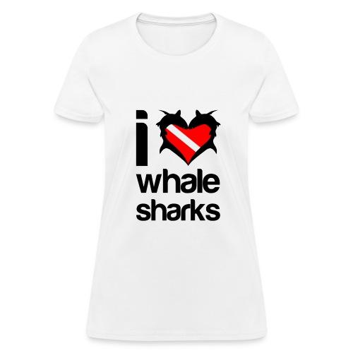 I Love Whale Sharks T-Shirt - Women's T-Shirt
