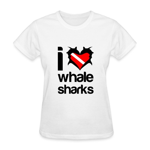 I Love Whale Sharks T-Shirt - Women's T-Shirt