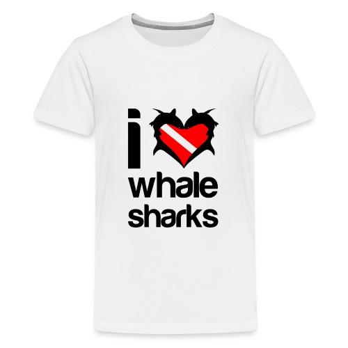 I Love Whale Sharks T-Shirt - Kids' Premium T-Shirt