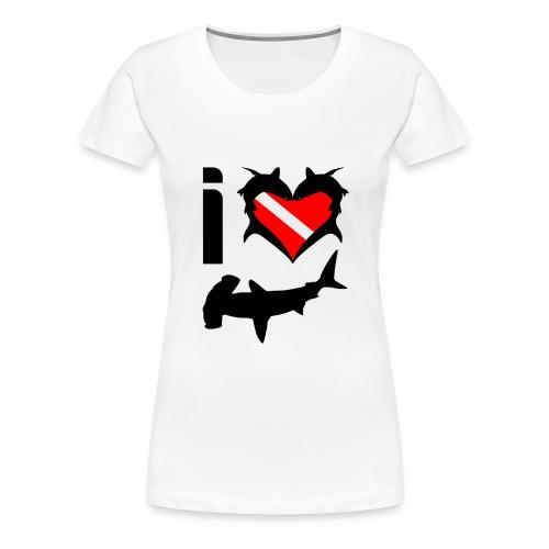 I Love Hammerhead Sharks T-Shirt - Women's Premium T-Shirt