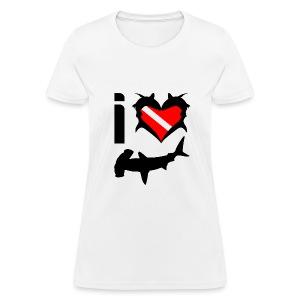 I Love Hammerhead Sharks T-Shirt - Women's T-Shirt