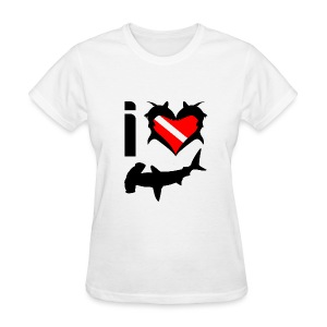 I Love Hammerhead Sharks T-Shirt - Women's T-Shirt