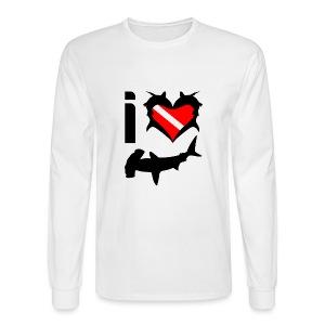 I Love Hammerhead Sharks T-Shirt - Men's Long Sleeve T-Shirt