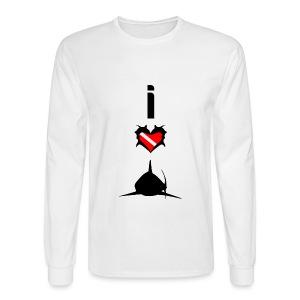 I Love Sharks T-Shirt - Men's Long Sleeve T-Shirt