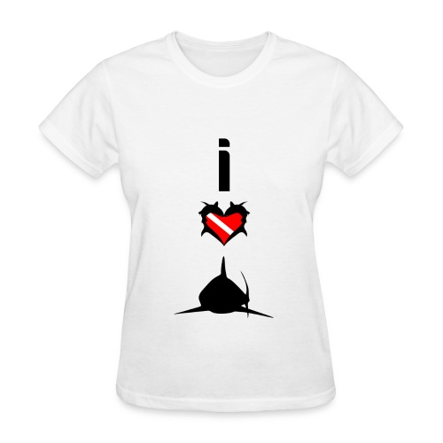 I Love Sharks T-Shirt - Women's T-Shirt