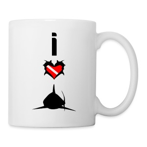 I Love Sharks T-Shirt - Coffee/Tea Mug