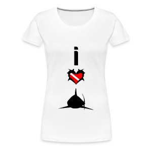 I Love Sharks T-Shirt - Women's Premium T-Shirt