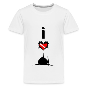 I Love Sharks T-Shirt - Kids' Premium T-Shirt