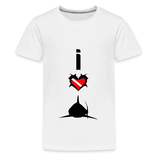 I Love Sharks T-Shirt - Kids' Premium T-Shirt