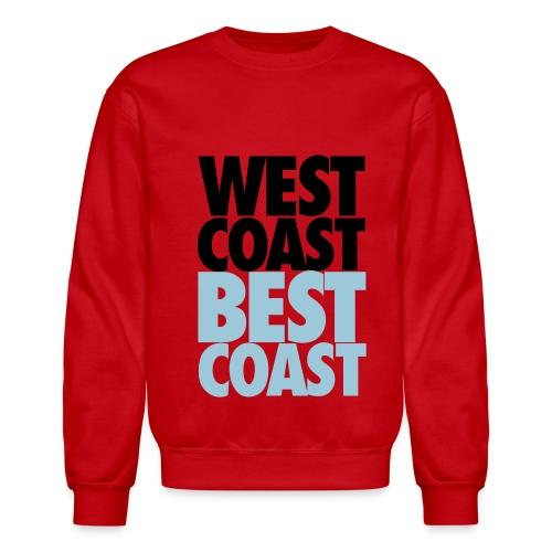 west coast - best coast - Crewneck Sweatshirt