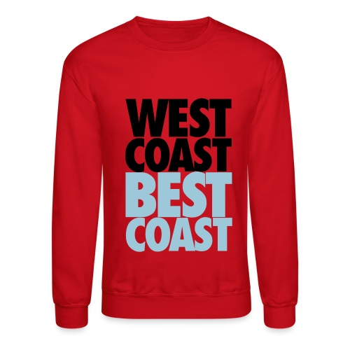 west coast - best coast - Crewneck Sweatshirt