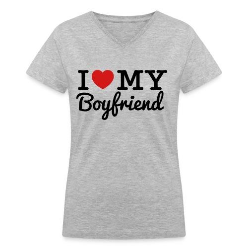 Women's V-Neck T-Shirt - boyfriend