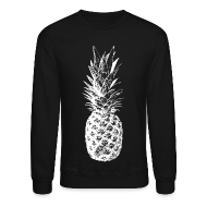 Long Sleeve Shirts ~ Men's Crewneck Sweatshirt ~ Men's Pineapple Sweatshirt