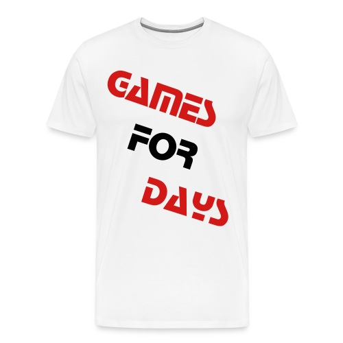 White GamesForDays Spreadshirt Premium T-Shirt - Men's Premium T-Shirt