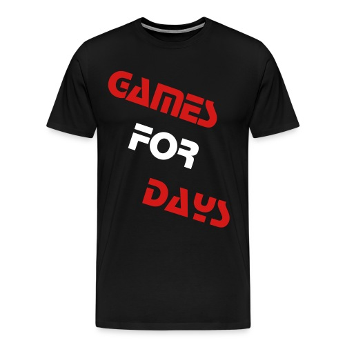 Black GamesForDays Spreadshirt Premium T-Shirt - Men's Premium T-Shirt