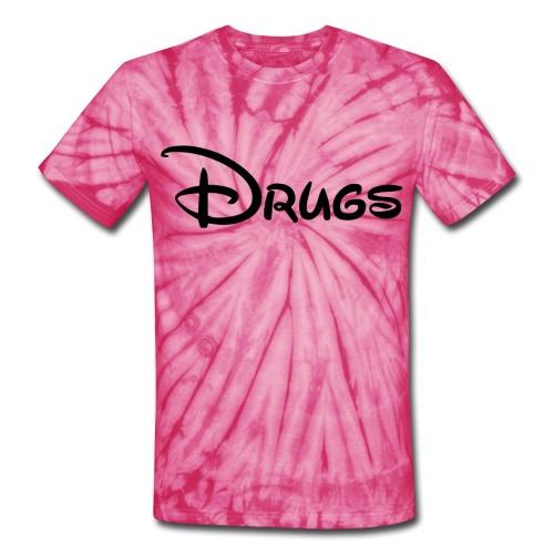 Drugs Tie Dye Tee  - Unisex Tie Dye T-Shirt