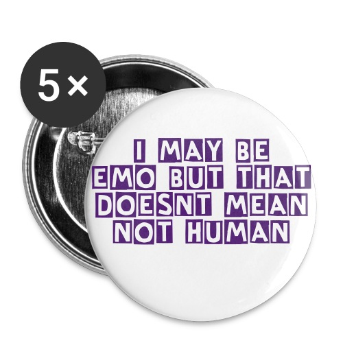 emo pin - Large Buttons