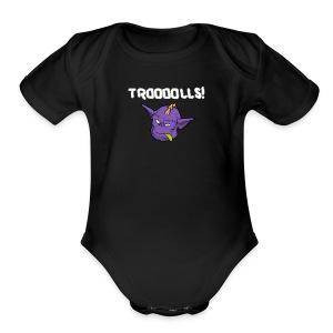 Troooolls! Tommy's Head One Piece - Short Sleeve Baby Bodysuit