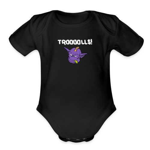 Troooolls! Tommy's Head One Piece - Organic Short Sleeve Baby Bodysuit