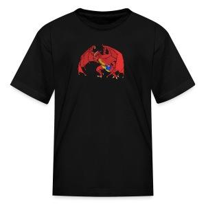 Troooolls! Banksy the Red Dragon - Kids' T-Shirt
