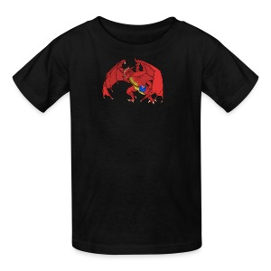 Troooolls! Banksy the Red Dragon - Kids' T-Shirt