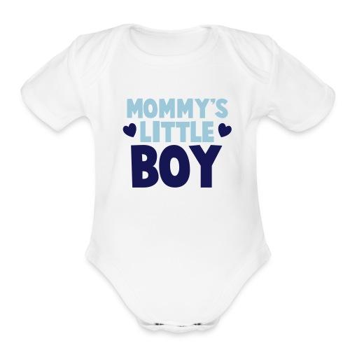 Mommy's Little Boy   - Organic Short Sleeve Baby Bodysuit