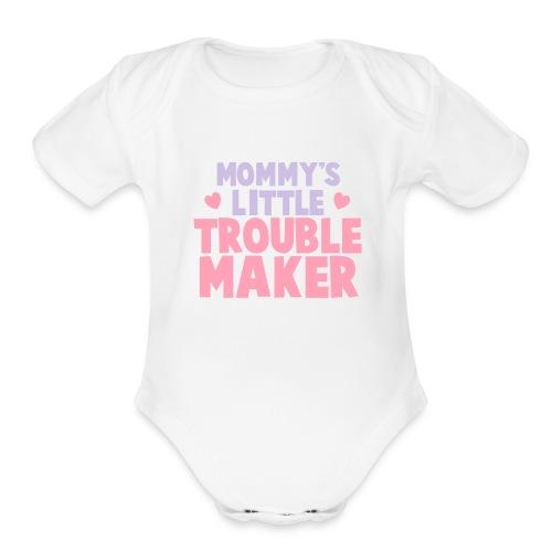 Little Trouble Maker   - Organic Short Sleeve Baby Bodysuit