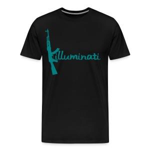 KUSHLAND KILLUMINATI - BLUE - Men's Premium T-Shirt