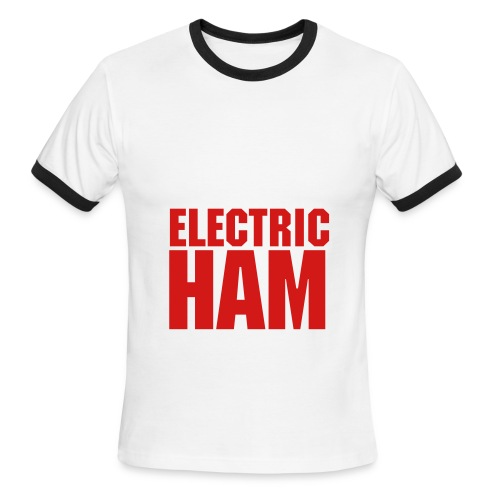 Men, Penny Tee: ELECTRIC HAM - Men's Ringer T-Shirt