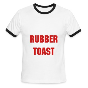Men, Penny Tee: rubber toast - Men's Ringer T-Shirt