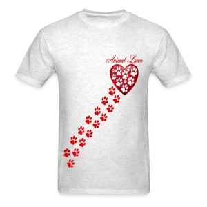 PAW PRINTS ON MY HEART - Men's T-Shirt