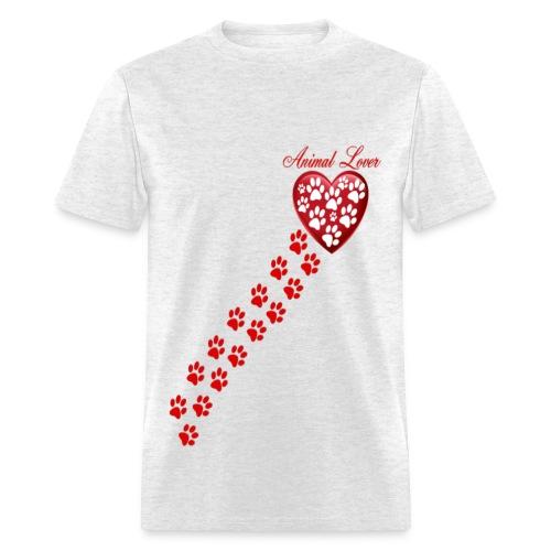 PAW PRINTS ON MY HEART - Men's T-Shirt