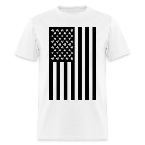 Awe-merican Flag (Black) - Men's T-Shirt
