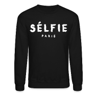 Long Sleeve Shirts ~ Men's Crewneck Sweatshirt ~ Selfie - Unisex Crewneck