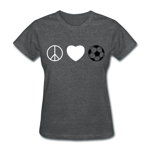 Women's T-Shirt - soccer,peace,love