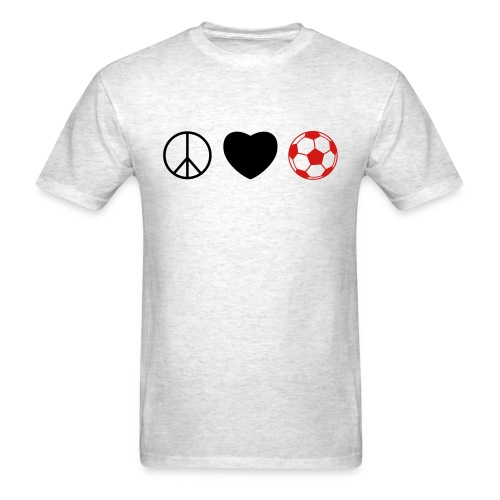 Peace Love Soccer - Men's T-Shirt