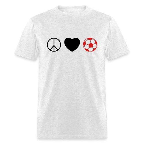 Peace Love Soccer - Men's T-Shirt