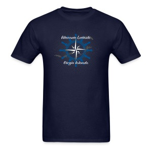 Mens Vintage Wheel Rose T - Navy - Men's T-Shirt