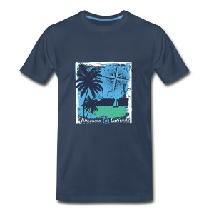 Mens Island Time Premium T - Navy - Men's Premium T-Shirt
