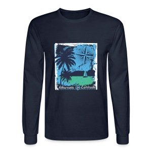 Mens Island Time T Long - Navy - Men's Long Sleeve T-Shirt