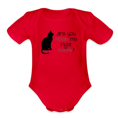 Right Meow Onesie - Organic Short Sleeve Baby Bodysuit