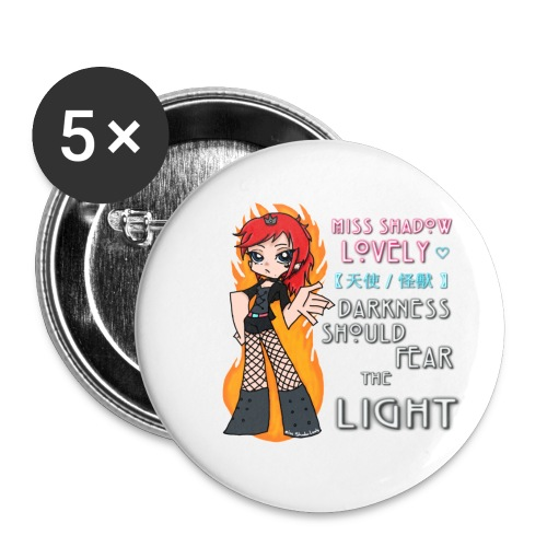 PSG Style: Darkness Should Fear... (Small Buttons) - Buttons small 1'' (5-pack)