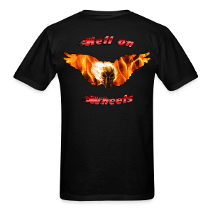 Mens T Hell on Wheels (Back) - Men's T-Shirt