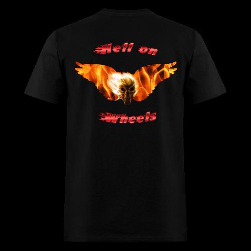 Mens T Hell on Wheels (Back) - Men's T-Shirt