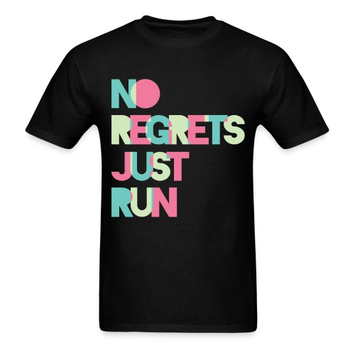 No regrets Just run - Men's T-Shirt