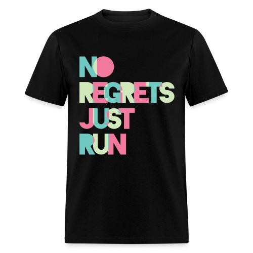 No regrets Just run - Men's T-Shirt