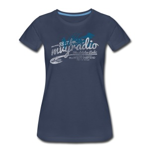 88.7 mvyradio is back on the air - Women's Premium T-Shirt